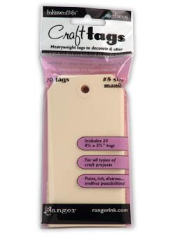 Ranger Craft Tags #5 Manila, 20pc Surfaces Ranger Brand