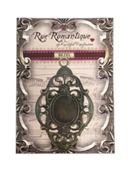 Rue Romantique Large Diamond Filigree Brass Closed Bezel, 1 pc. Bezels & Charms ICE Resin®