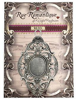 Rue Romantique Large Diamond Filigree Silver Closed Bezel, 1 pc. Bezels & Charms ICE Resin®