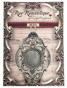 Rue Romantique Large Diamond Filigree Silver Closed Bezel, 1 pc.
