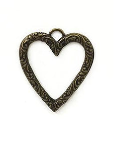 Rue Romantique Scroll Heart Bezel Antique Bronze, 1pc Bezels & Charms ICE Resin®