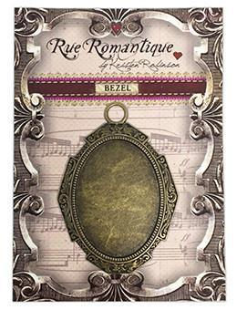 Rue Romantique Large Oval Antique Brass Closed Bezel, 1 pc. Bezels & Charms ICE Resin®
