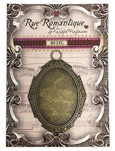 Rue Romantique Large Oval Antique Brass Closed Bezel, 1 pc.