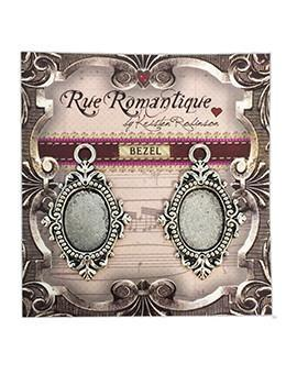 Rue Romantique Oval Antique Silver Small Closed Bezel, 2 pcs.