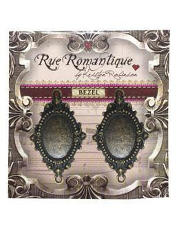 Rue Romantique Oval Antique Brass Small Closed Bezel, 2 pcs. Bezels & Charms ICE Resin®