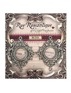 Rue Romantique Small Diamond Filigree Silver Open Bezel, 2 pc.