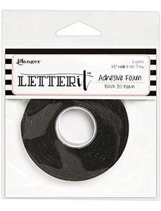 Letter It™ Black Foam Roll Tape