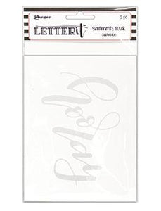 Letter It™ Celebration Sentiment Pack (4.25 x 5.5) 12pk / 6 Designs Surfaces Letter It