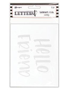 NEW! Letter It™ Greetings Sentiment Pack (4.25 x 5.5) 12pk / 6 Designs