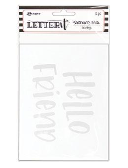 Letter It™ Sentinment Pack - Greetings Surfaces Letter It