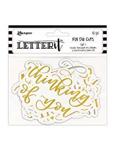 Letter It™ 12pk Die Cuts - # 1 Die Cuts Letter It