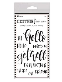 Letter It™ Clear Stamp Set - Greetings Stamps Letter It