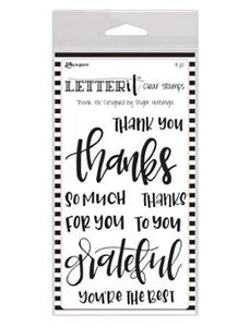 Letter It™ Clear Stamp Set - Thank You Stamps Letter It