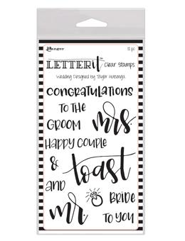 Letter It™ Clear Stamp Set - Wedding Stamps Letter It
