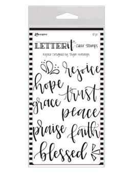 NEW! Letter It™ Clear Stamp Set - Rejoice