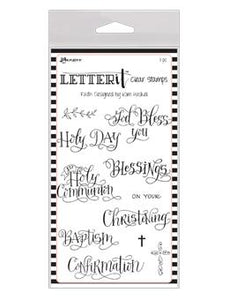 Letter It™ Clear Stamp Set - Faith Stamps Letter It