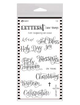 NEW! Letter It™ Clear Stamp Set - Faith