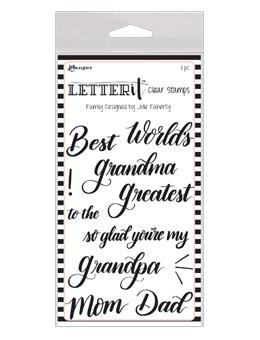 Letter It™ Clear Stamp Set - Family Stamps Letter It