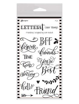 NEW! Letter It™ Clear Stamp Set - Friendship