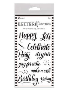 NEW! Letter It™ Clear Stamp Set - Party