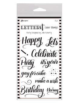 Letter It™ Clear Stamp Set - Party Stamps Letter It