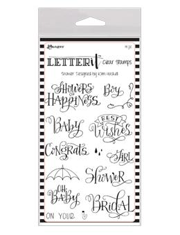 NEW! Letter It™ Clear Stamp Set - Shower