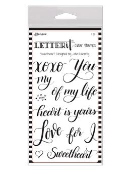 NEW! Letter It™ Clear Stamp Set - Sweetheart
