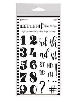 Letter It™ Clear Stamp Set - By the Numbers Stamps Letter It