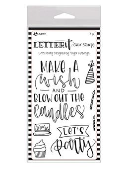 Letter It™ Clear Stamp Set - Let's Party Stamps Letter It