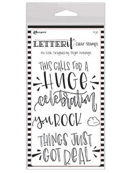 Letter It™ Clear Stamp Set - You Rock Stamps Letter It