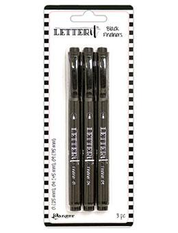 Letter It™ Fineliner Black Pens (3 Pack) Pens Letter It