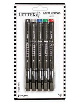 Letter It™ Classic Fineliner Pens (5 Pack) Pens Letter It