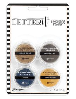 Letter It™ Embossing Powders Metallic, 4pc Embossing Powders Letter It