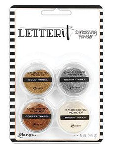 Letter It™ Embossing Powders Tinsels, 4pc Embossing Powders Letter It