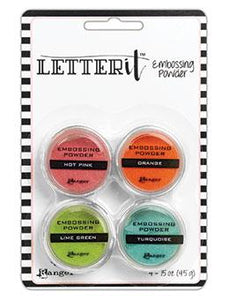 Letter It™ Embossing Powders Brights, 4pc Embossing Powders Letter It