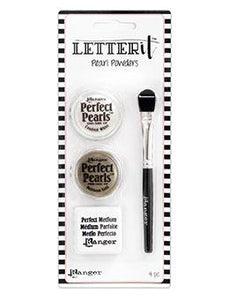 Letter It™ Pearl Powders 4PC, #4 Pigment Powders Letter It