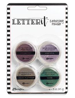 NEW! Letter It™ Embossing Powders Graceful, 4pc