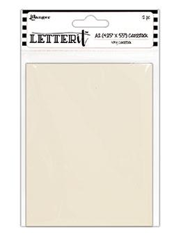 "Letter It™ Ivory A2 Cardstock 4.25"" x 5.5"", 12pc Surfaces Letter It"