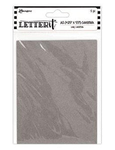 "Letter It™ Grey A2 Cardstock 4.25"" x 5.5"", 12pc Surfaces Letter It"
