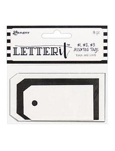 NEW! Letter It™ Black & White Assorted Tags, 18pc