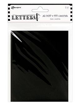 "Letter It™ Black Cardstock 4.25"" x 5.5"", 12pc Surfaces Letter It"