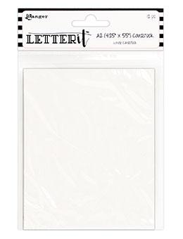 Letter It™ White Cardstock 4.25 x 5.5, 12PCS Surfaces Letter It