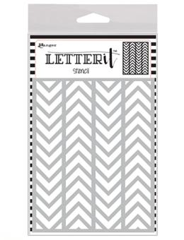 Letter It™ Background Stencil Alternating Chevrons Stencil Letter It