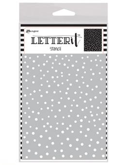 Letter It™ Background Stencil Dancing Dots Stencil Letter It