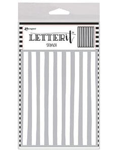 Letter It™ Background Stencil Organic Stripes Stencil Letter It