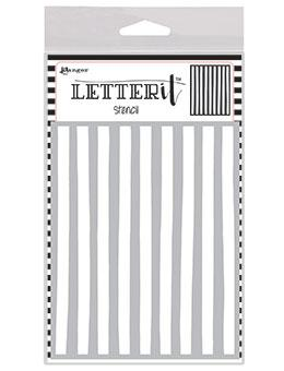 Letter It™ Background Stencil Organic Stripes