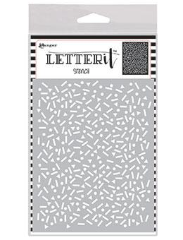 Letter It™ Background Stencil Party Time Stencil Letter It