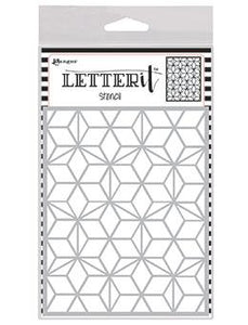 Letter It™ Background Stencil Puzzled Mosaic Stencil Letter It