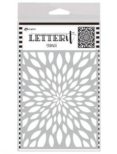 NEW! Letter It™ Background Stencil Flower Burst