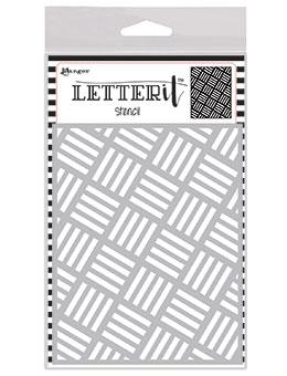 Letter It™ Background Stencil Rocking Stripes Stencil Letter It